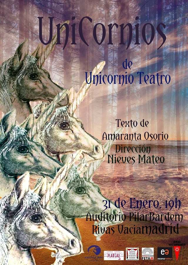 'Unicornios' nuevo proyecto escénico de Unicornio Teatro, estreno el 31 de enero en el Auditorio Pilar Bardem de Rivas Vacíamadrid