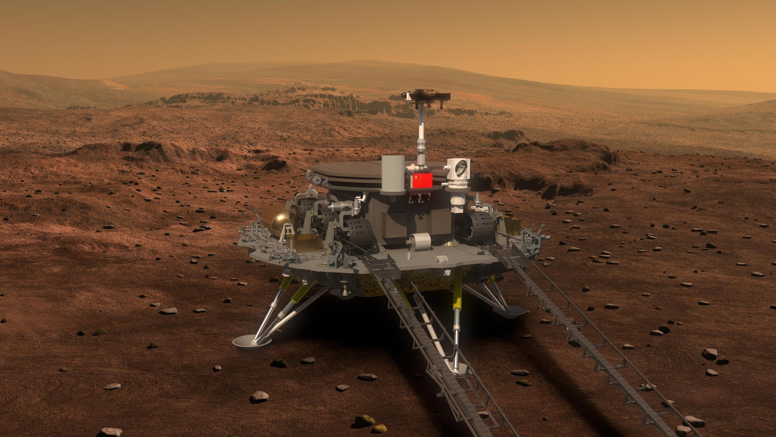 China en Marte: el rover Zhurong desciende hoy a la superficie