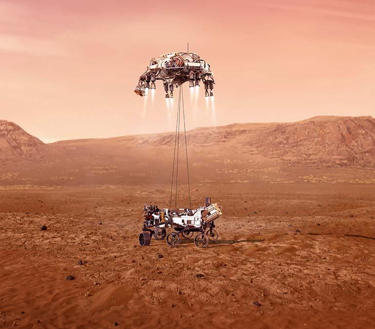 Mars Perseverance intentará aterrizar en la superficie de marte