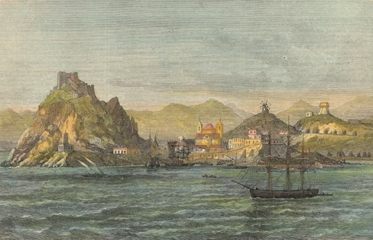 La costa de Águilas lugar de paso en el viaje de la reina Isabel II por Andalucía y Murcia