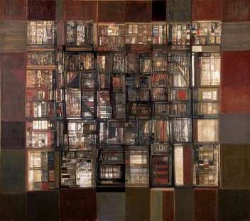 Una biblioteca en fuego de Vieira da Silva