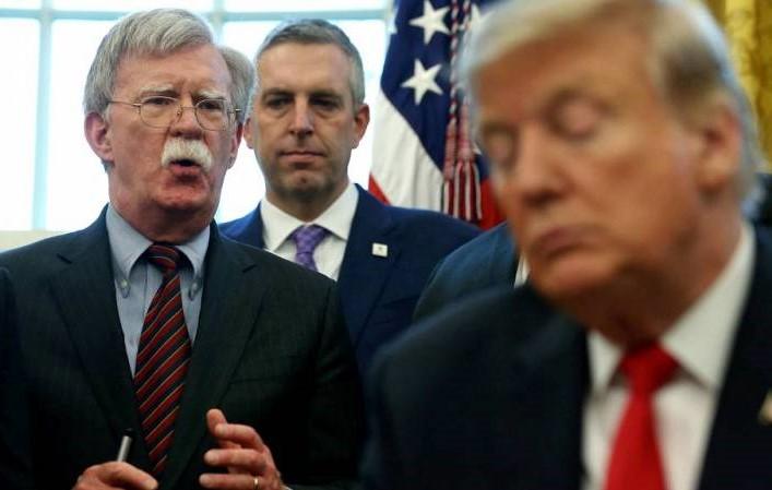 Bolton y Trump