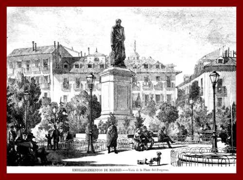 Estatua Mendizabal Plaza Progreso hoy Tirso de Molina en Madrid