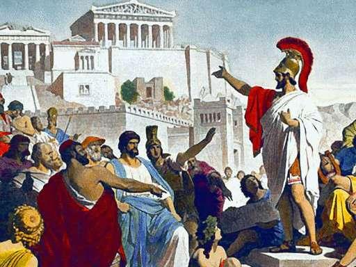 Pericles en el Agora