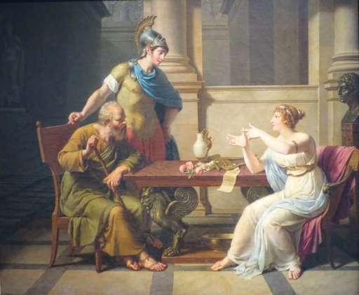 Socrates con Pericles y Aspasia