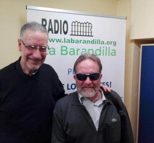 Foto Francisco Forte con un invitado en la radio