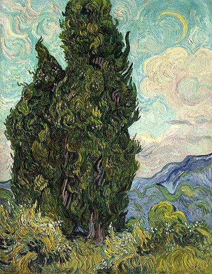 Cipreses Van Gogh 1889