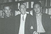 Con Vicente Aleixandre y José Ángel Valente