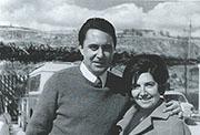 Con su esposa Clara Miranda