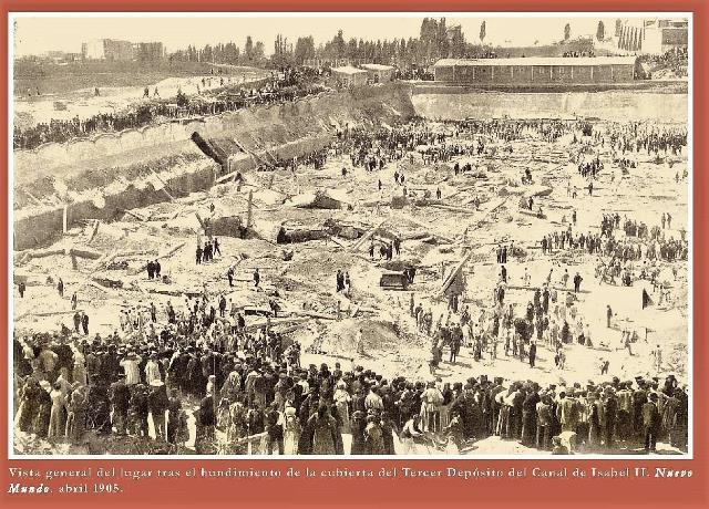El hundimiento del tercer depósito del Canal de Isabel II en 1905