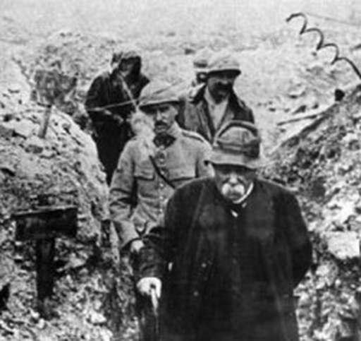 Clemenceau en el frente 1918