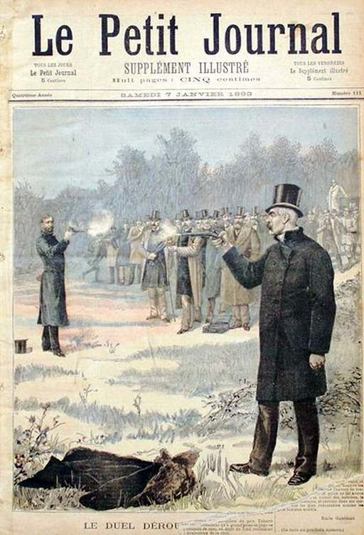 Duelista Le duel Déroulède Clémenceau 1893
