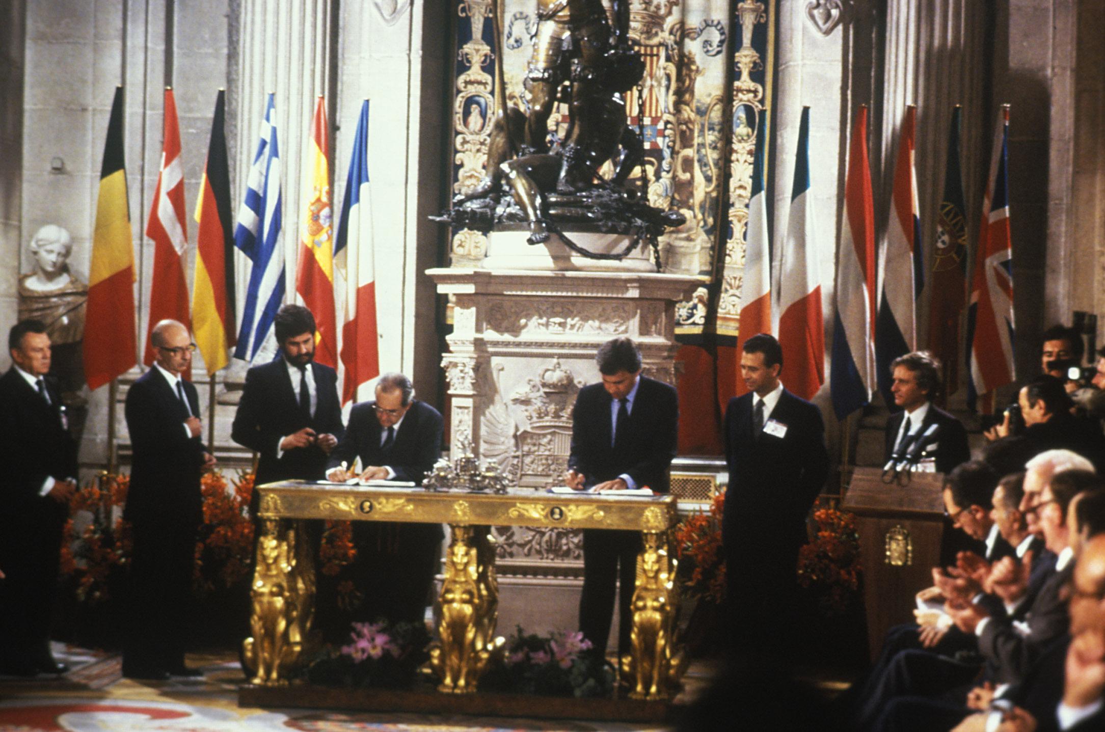 Adhesion de España a la UE