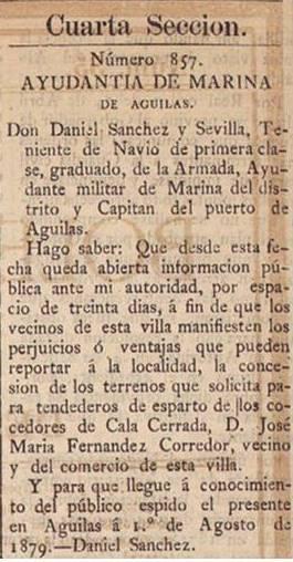 Boletín oficial de la provincia de Murcia 4 9 1879