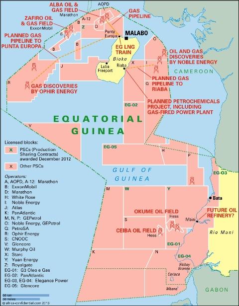 Explotaciones petroleras en Guinea