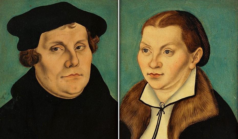 Lutero y mujer
