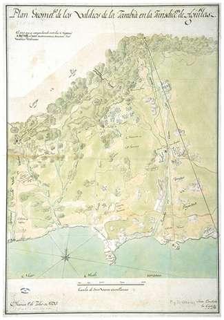 Plano Geométrico de los valdios de Jaravía en la Jurisdicción de Águilas 1793